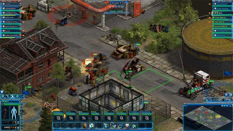Процесс игры Affected Zone Tactics