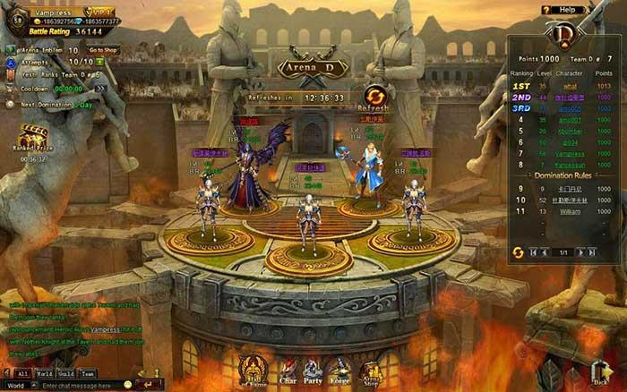 Игровой процесс Лига Ангелов