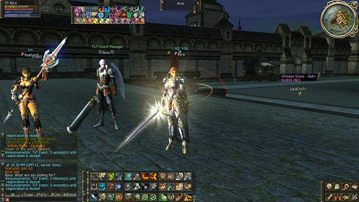 Скриншот из игры Lineage 2