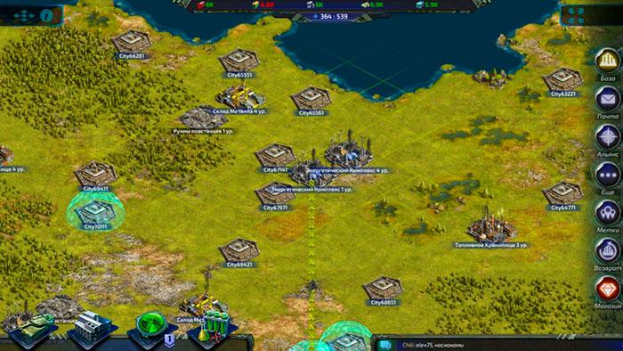 Глобальная карта в игре generals art of war