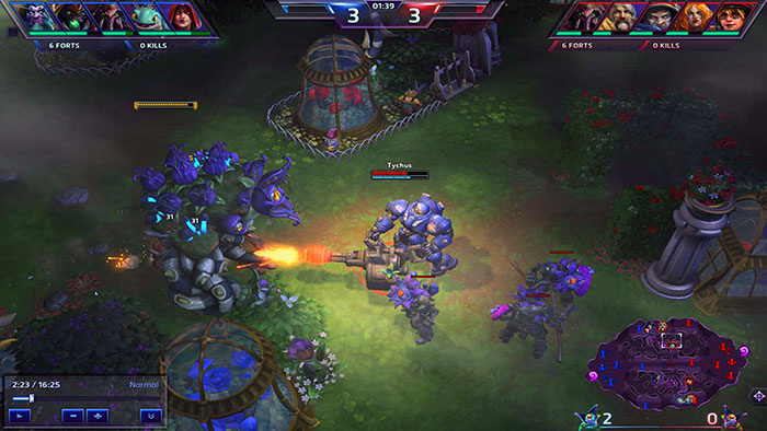 Игровой процесс Heroes of the Storm