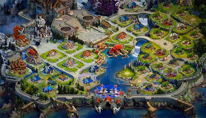 Город в игре Vikings War of Clans