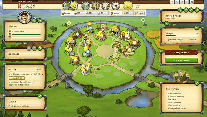 Скриншот из игры Travian Legends