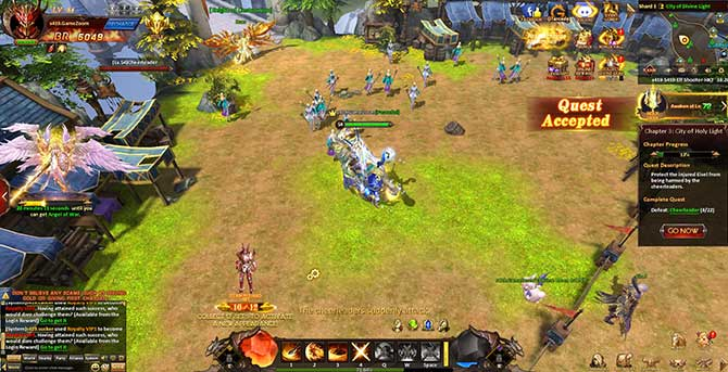 Скриншот из игры League of Angels Heaven's Fury