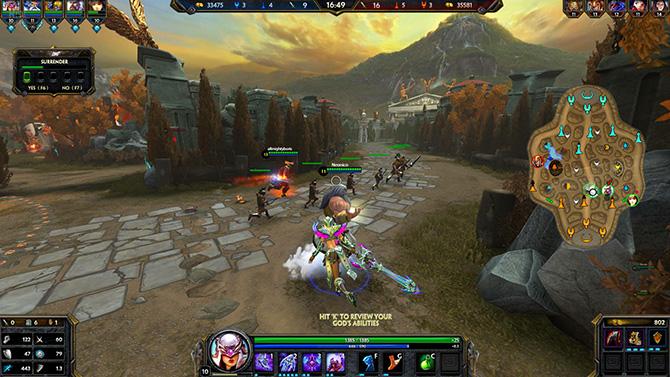 Скриншот игры SMITE