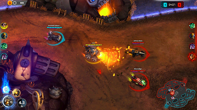 Скриншот из игры Heavy Metal Machines
