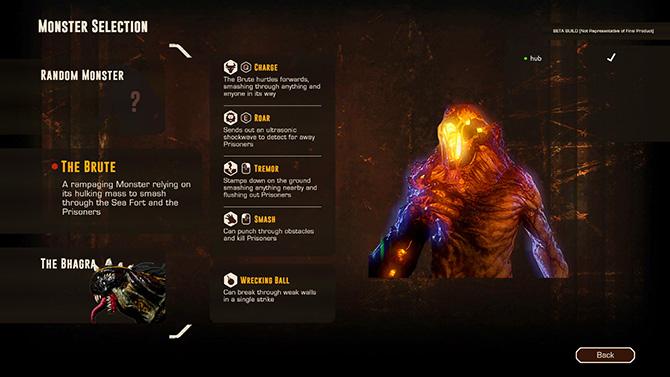 Выбор персонажа в игре Монструм 2
