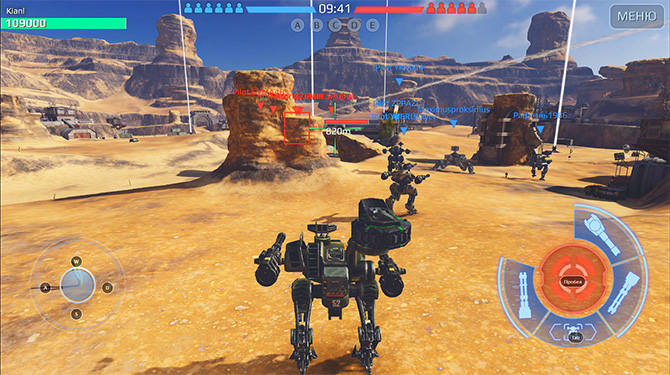 Скрншот из игры War Robots